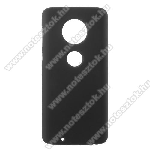 Műanyag védő tok / hátlap - FEKETE - Hybrid Protector - MOTOROLA Moto G6