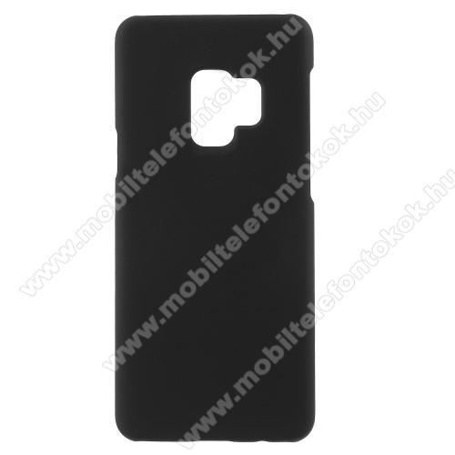 Műanyag védő tok / hátlap - Hybrid Protector - FEKETE - SAMSUNG SM-G965 Galaxy S9+