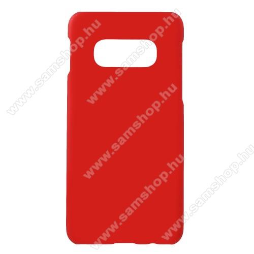 Műanyag védő tok / hátlap - Hybrid Protector - PIROS - SAMSUNG SM-G970F Galaxy S10e