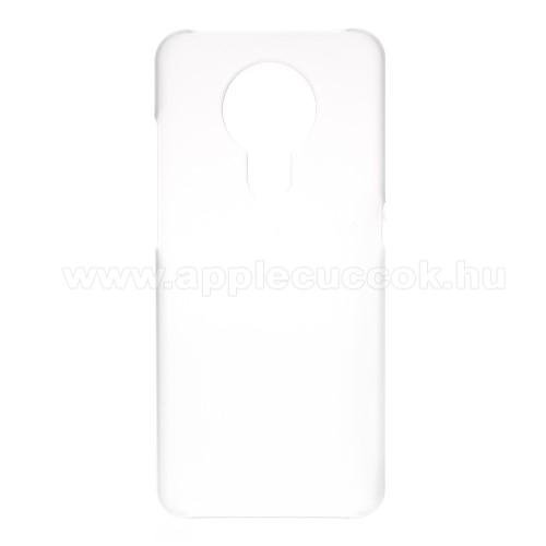 Műanyag védő tok / hátlap - Hybrid Protector - ÁTLÁTSZÓ - NOKIA 5.3