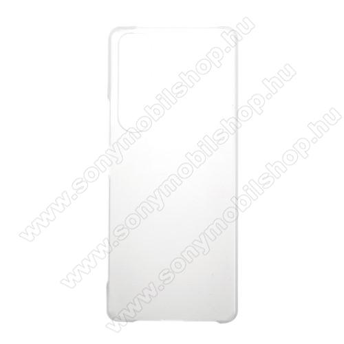 Műanyag védő tok / hátlap - Hybrid Protector - ÁTLÁTSZÓ - SONY Xperia 1 III