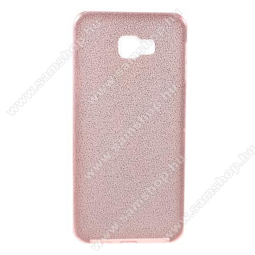 Műanyag védő tok / hátlap - kivehető csillámos réteg, szilikon burkolat - RÓZSASZÍN - SAMSUNG SM-J415F Galaxy J4+