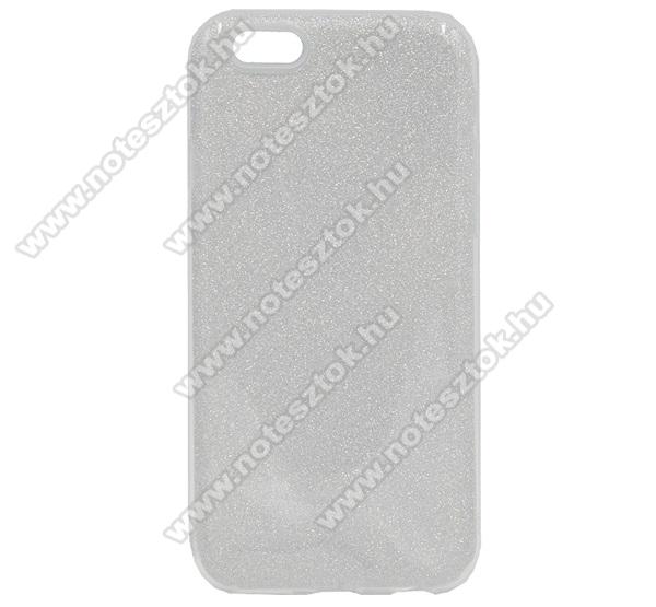 Műanyag védő tok / hátlap - kivehető csillámos réteg, szilikon burkolat - EZÜST - APPLE iPhone 6 / APPLE iPhone 6s