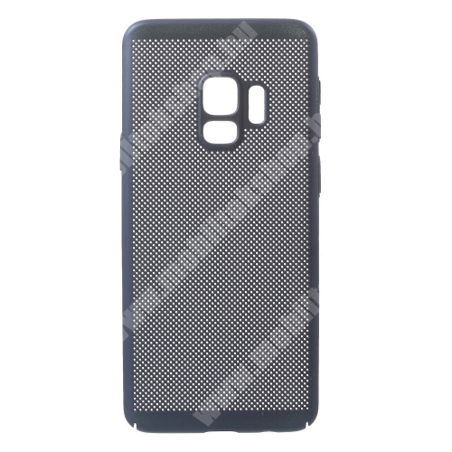 Műanyag védő tok / hátlap - lyukacsos mintás - SÖTÉTKÉK - SAMSUNG SM-G960 Galaxy S9