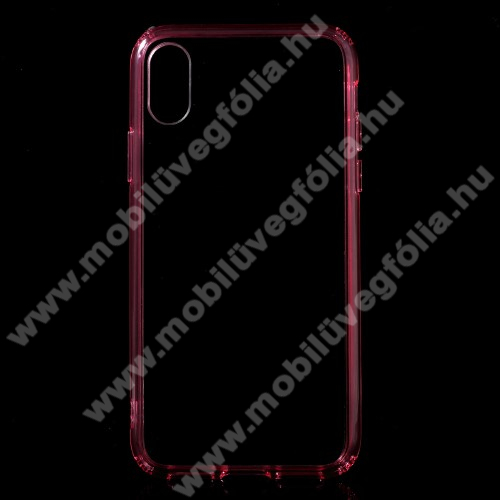 Műanyag védő tok / hátlap - MAGENTA - szilikon szegély - APPLE iPhone X / APPLE iPhone XS