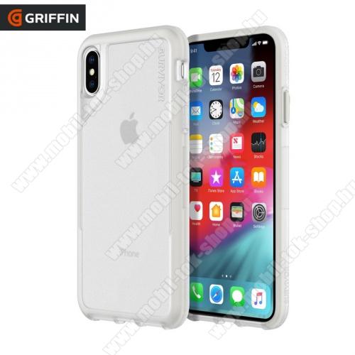 Műanyag védő tok / hátlap SURVIVOR ENDURANCE (szilikon betét, 3 méterig ütésálló) ÁTLÁTSZÓ - GIP-015-CGY - Apple iPhone XS Max 6.5 - GYÁRI