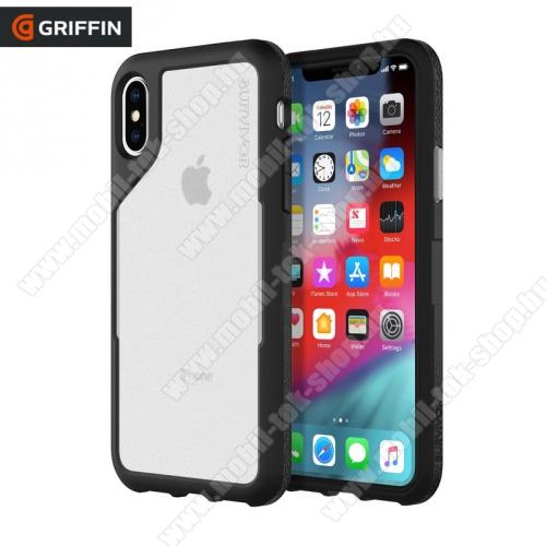 Műanyag védő tok / hátlap SURVIVOR ENDURANCE (szilikon betét, 3 méterig ütésálló) ÁTLÁTSZÓ / FEKETE - GIP-010-BGY - Apple iPhone X 5.8, Apple iPhone XS 5.8 - GYÁRI