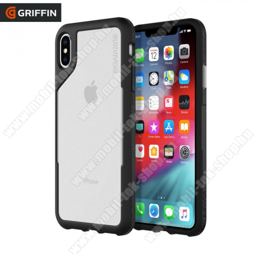 Műanyag védő tok / hátlap SURVIVOR ENDURANCE (szilikon betét, 3 méterig ütésálló) ÁTLÁTSZÓ / FEKETE - GIP-015-BGY - Apple iPhone XS Max 6.5 - GYÁRI