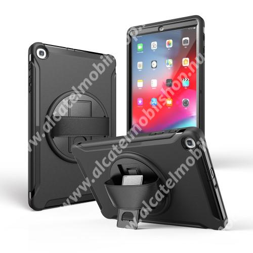 Műanyag védő tok / hátlap - szilikon betétes, kitámasztható - ERŐS VÉDELEM! - FEKETE - SAMSUNG Galaxy Tab A 10.1 Wi-Fi (2019) (SM-T510) / SAMSUNG Galaxy Tab A 10.1 LTE (2019) (SM-T515)
