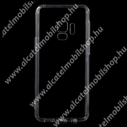Műanyag védő tok / hátlap - szilikon szegély - ÁTLÁTSZÓ - SAMSUNG SM-G960 Galaxy S9