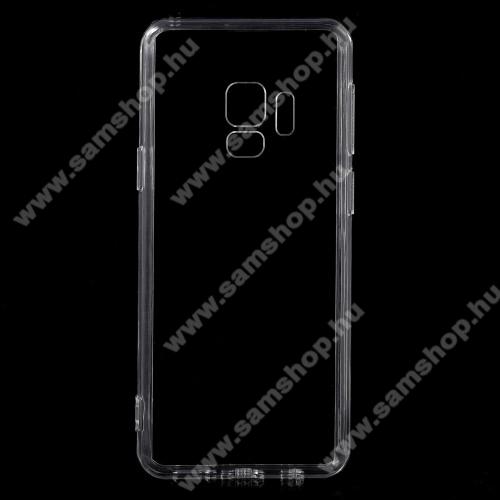 SAMSUNG SM-G960 Galaxy S9Műanyag védő tok / hátlap - szilikon szegély - ÁTLÁTSZÓ - SAMSUNG SM-G960 Galaxy S9