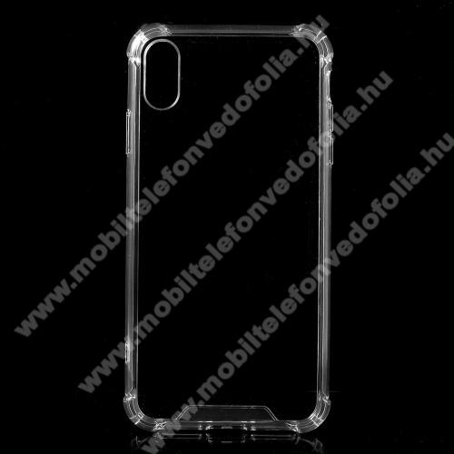 Műanyag védő tok / hátlap - szilikon szegély, erősített sarkok, ütődés álló - ÁTLÁTSZÓ - APPLE iPhone Xr