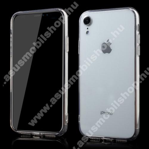 Műanyag védő tok / hátlap - szilikon szegély, porvédő funkció - ÁTLÁTSZÓ - APPLE iPhone Xr