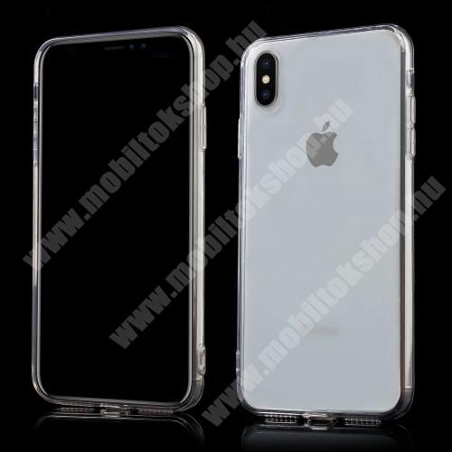 APPLE iPhone XS Max Műanyag védő tok / hátlap - szilikon szegély, porvédő funkció - ÁTLÁTSZÓ - APPLE iPhone XS Max