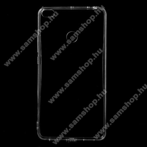 Műanyag védő tok / hátlap - szilikon szegély - ÁTLÁTSZÓ - Xiaomi Mi Max 2
