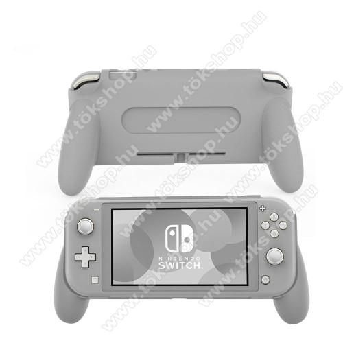 Műanyag védő tok / hátlap - SZÜRKE - Nintendo Switch Lite