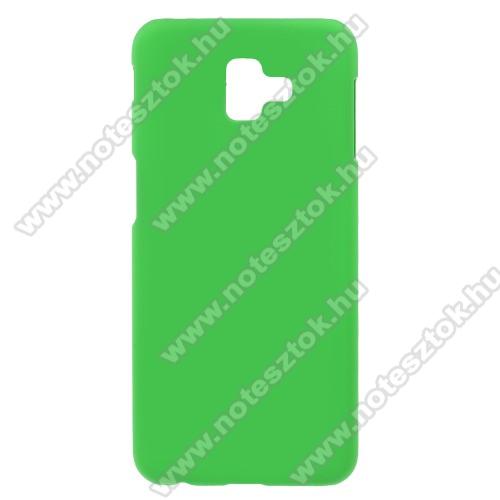 Műanyag védő tok / hátlap - ZÖLD - Hybrid Protector - SAMSUNG SM-J610F Galaxy J6+