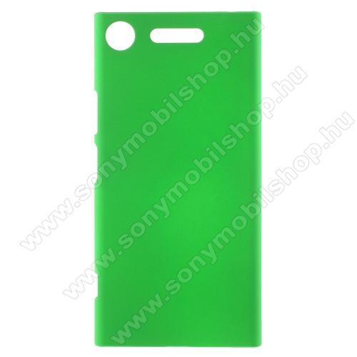 Műanyag védő tok / hátlap - ZÖLD - Hybrid Protector - Sony Xperia XZ1