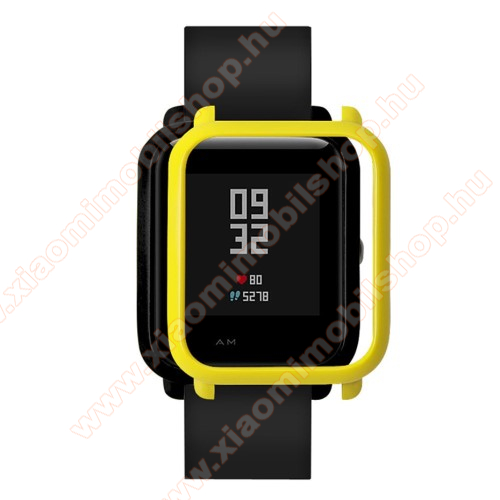 Xiaomi Amazfit Youth Edition Műanyag védő tok / keret - CITROMSÁRGA - Xiaomi Amazfit Bip / Huami Amazfit Smart Watch Youth Edition