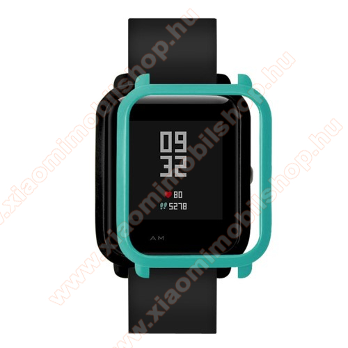 Xiaomi Amazfit Youth Edition Műanyag védő tok / keret - CYAN - Xiaomi Amazfit Bip / Huami Amazfit Smart Watch Youth Edition