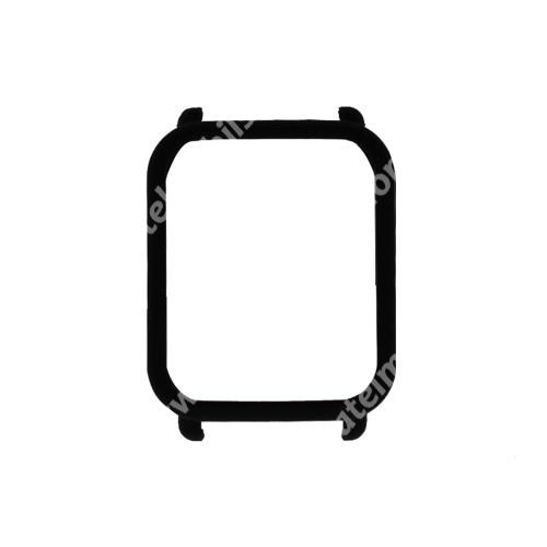 Műanyag védő tok / keret - FEKETE - Xiaomi Amazfit Bip / Huami Amazfit Smart Watch Youth Edition