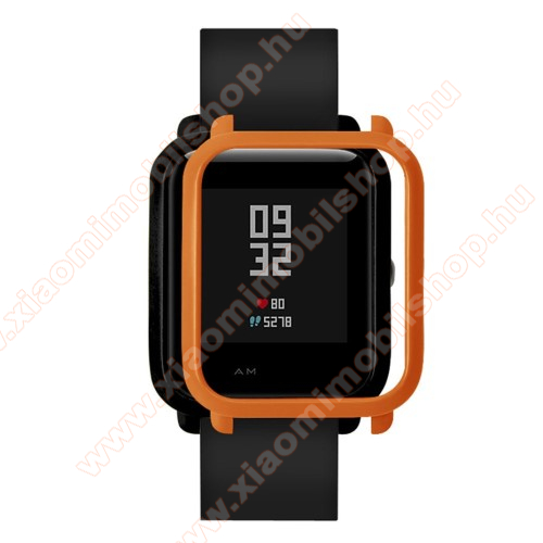Xiaomi Amazfit Youth Edition Műanyag védő tok / keret - NARANCS - Xiaomi Amazfit Bip / Huami Amazfit Smart Watch Youth Edition