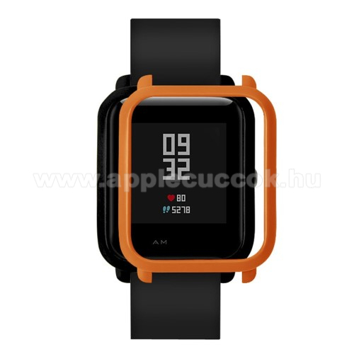 Műanyag védő tok / keret - NARANCS - Xiaomi Amazfit Bip / Huami Amazfit Smart Watch Youth Edition