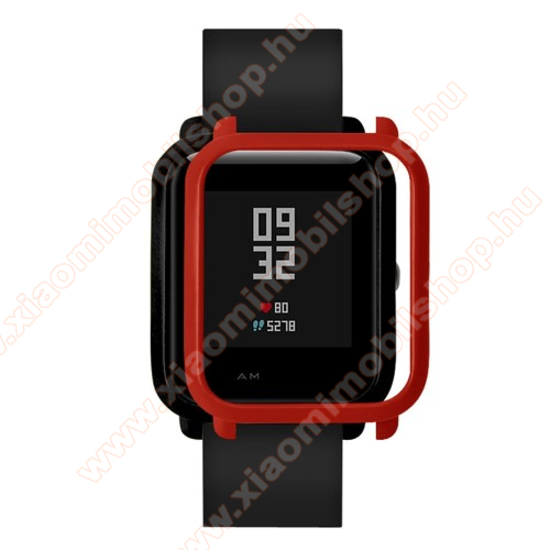 Xiaomi Amazfit Youth Edition Műanyag védő tok / keret - PIROS - Xiaomi Amazfit Bip / Huami Amazfit Smart Watch Youth Edition