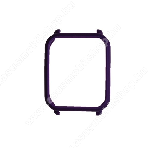 Műanyag védő tok / keret - SÖTÉTLILA - Xiaomi Amazfit Bip / Huami Amazfit Smart Watch Youth Edition