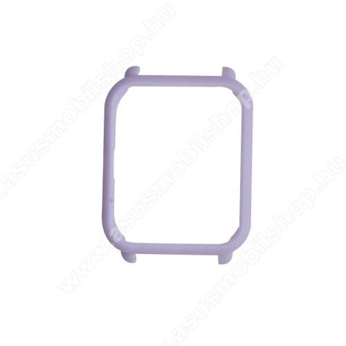 Műanyag védő tok / keret - VILÁGOS LILA - Xiaomi Amazfit Bip / Huami Amazfit Smart Watch Youth Edition