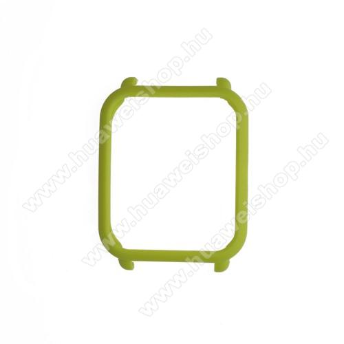 Műanyag védő tok / keret - ZÖLD - Xiaomi Amazfit Bip / Huami Amazfit Smart Watch Youth Edition