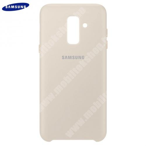 Műanyag védőtok (dupla rétegű, gumírozott) ARANY - EF-PA605CFEGWW - Samsung Galaxy A6+ (2018) SM-A605F - GYÁRI