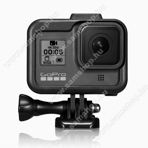 Műanyag védőtok GoPro Hero 8-hoz - csúszó tolószerkezet - FEKETE