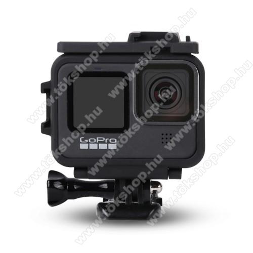 Műanyag védőtok GoPro Hero 9-hez - adapter, állítható, 69 x 29 x 73 mm - FEKETE