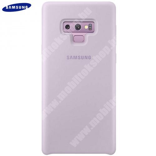 Műanyag védőtok (gumi / szilikon betét) LILA - EF-PN960TVEG - Samsung Galaxy Note 9 (SM-N960F) - GYÁRI