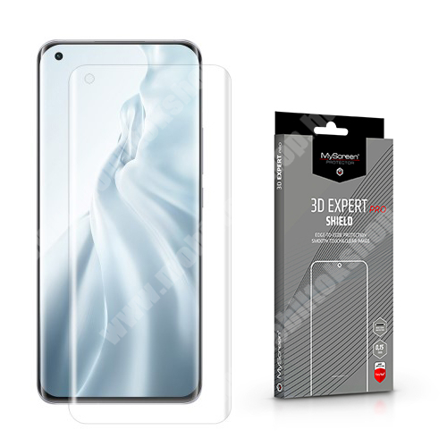MYSCREEN 3D EXPERT PRO SHIELD képernyővédő fólia - Crystal Clear - 1db, törlőkendővel, 0.15mm, ÖNREGENERÁLÓ! - A TELJES KIJELZŐT VÉDI! - Xiaomi Mi 11 - GYÁRI
