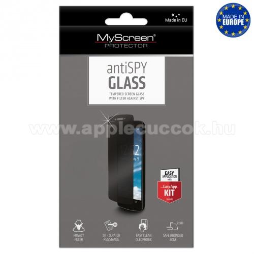 MYSCREEN ANTISPY előlap védő karcálló edzett üveg - betekintés elleni védelem, 9H, Arc Edge, A képernyő sík részét védi - APPLE iPhone 6 Plus / APPLE iPhone 6S Plus
