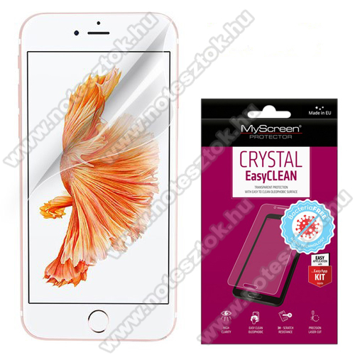 MYSCREEN CRYSTAL BacteriaFREE képernyővédő fólia - CRYSTAL - 1db, törlőkendővel, antibakteriális, A képernyő sík részét védi! - APPLE iPhone SE (2020) / APPLE iPhone 7 / APPLE iPhone 8 / APPLE iPhone 6 / APPLE iPhone 6S - GYÁRI