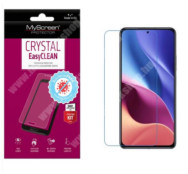 MYSCREEN CRYSTAL BacteriaFREE képernyővédő fólia - CRYSTAL - 1db, törlőkendővel, antibakteriális, A képernyő sík részét védi! - Xiaomi Redmi K40 / Redmi K40 Pro / Redmi K40 Pro Plus / Mi 11i / Poco F3 - GYÁRI