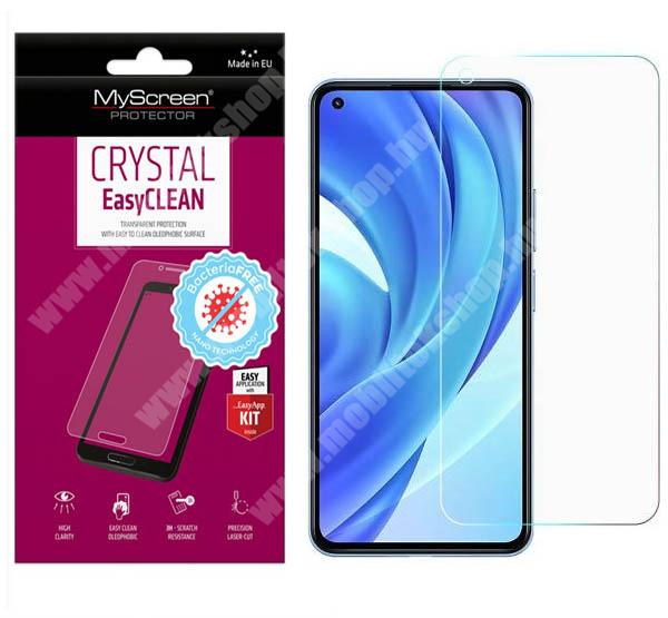 MYSCREEN CRYSTAL BacteriaFREE képernyővédő fólia - CRYSTAL - 1db, törlőkendővel, antibakteriális, A képernyő sík részét védi! - Xiaomi Mi 11 Lite / Mi 11 Lite 5G - GYÁRI