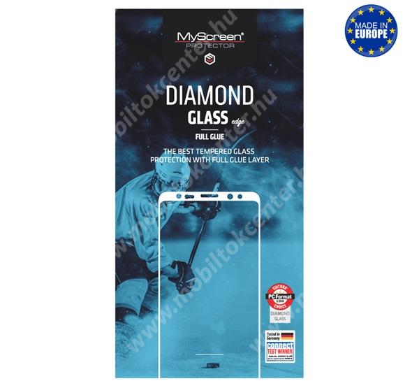 MYSCREEN DIAMOND GLASS EDGE előlap védő karcálló edzett üveg - FEKETE - 9H, 0.33 mm, 2.5D, A teljes felületén tapad! - A TELJES KIJELZŐT VÉDI! - APPLE iPhone 6 / APPLE iPhone 6s - GYÁRI