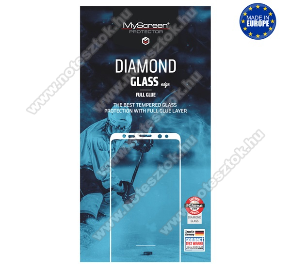 MYSCREEN DIAMOND GLASS EDGE előlap védő karcálló edzett üveg - FEKETE - 9H, 0.33 mm, 2.5D, A teljes felületén tapad! - A TELJES KIJELZŐT VÉDI! -  APPLE iPhone SE (2020) / APPLE iPhone 7 / APPLE iPhone 8 / APPLE iPhone 6 / APPLE iPhone 6S - GYÁRI