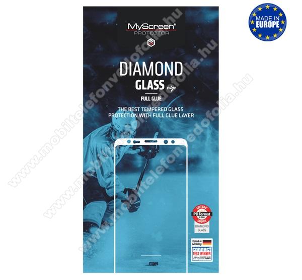 MYSCREEN DIAMOND GLASS EDGE előlap védő karcálló edzett üveg - FEKETE - 9H, 0.33 mm, 2.5D, A teljes felületén tapad! - A TELJES KIJELZŐT VÉDI! - HUAWEI P40 Lite / Huawei Nova 7i / Huawei nova 6 SE - GYÁRI