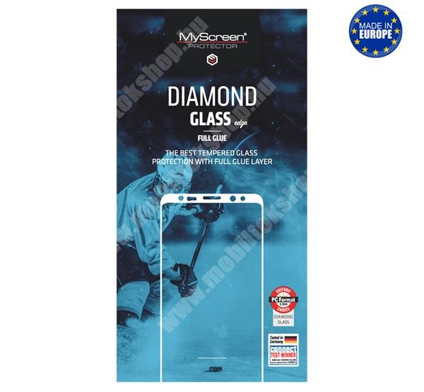 MYSCREEN DIAMOND GLASS EDGE előlap védő karcálló edzett üveg - FEKETE - 9H, 0.33 mm, 2.5D, A teljes felületén tapad! - A TELJES KIJELZŐT VÉDI! - SAMSUNG Galaxy A41 (SM-A415F) - GYÁRI