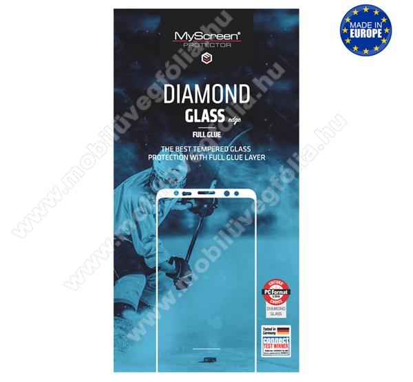 MYSCREEN DIAMOND GLASS EDGE előlap védő karcálló edzett üveg - FEKETE - 9H, 0.33 mm, 2.5D, A teljes felületén tapad! - A TELJES KIJELZŐT VÉDI! - SAMSUNG Galaxy A21 (SM-A210F) - GYÁRI