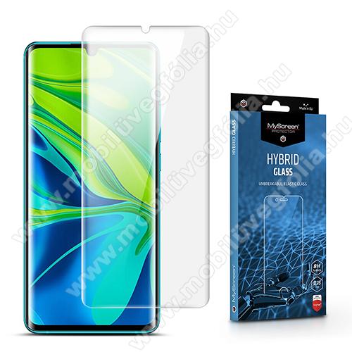 MYSCREEN HYBRIDGLASS Flexible 8H rugalmas edzett üveg képernyővédő fólia, 0,15 mm vékony, a képernyő sík részét védi - ÁTLÁTSZÓ - Xiaomi Mi Note 10 / Xiaomi Mi Note 10 Pro / Xiaomi Mi CC9 Pro / Xiaomi Mi Note 10 Lite - GYÁRI