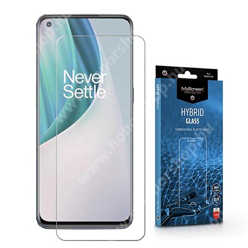 MYSCREEN HYBRIDGLASS Flexible 8H rugalmas edzett üveg képernyővédő fólia, 0,15 mm vékony, a képernyő sík részét védi - ÁTLÁTSZÓ - OnePlus Nord N100 - GYÁRI