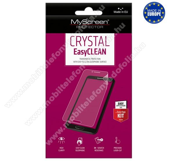 MYSCREEN képernyővédő fólia - Crystal Clear - 1db, törlőkendővel, A képernyő sík részét védi - ALCATEL 3X (2019) - GYÁRI