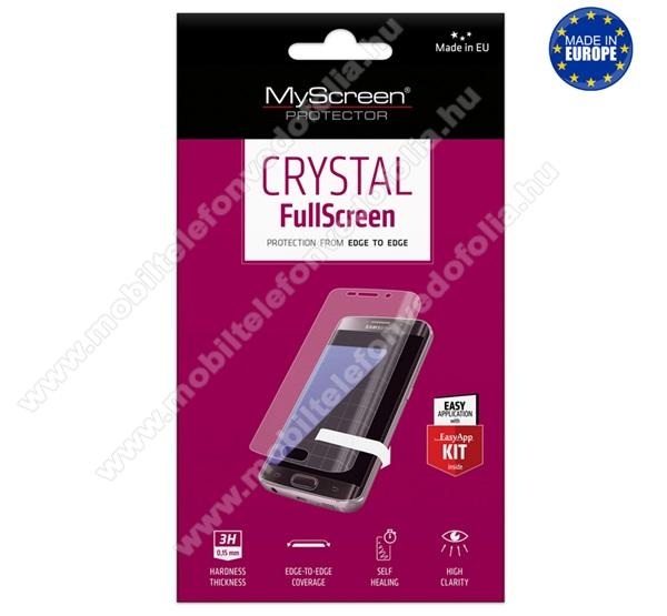 MYSCREEN képernyővédő fólia - Crystal Clear - 1db, törlőkendővel - A TELJES KIJELZŐT VÉDI! - HUAWEI P40 - GYÁRI