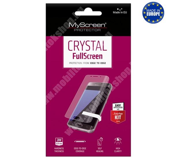 MYSCREEN képernyővédő fólia - Crystal Clear - 1db, törlőkendővel - A TELJES KIJELZŐT VÉDI! - SAMSUNG Galaxy A01 (SM-A015F) - GYÁRI